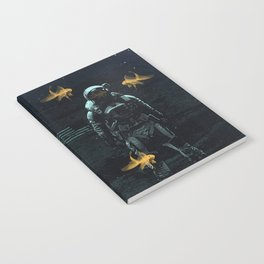 Space goldfish Notebook