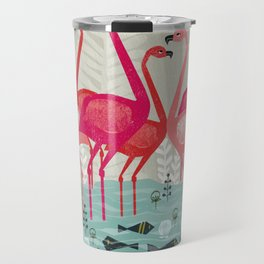 Flamingos by Andrea Lauren  Travel Mug