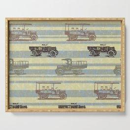 Vintage Truck Pattern Serving Tray