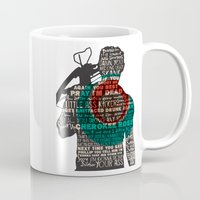daryl dixon Mugs featuring Daryl Dixon with Quotes by rlc82