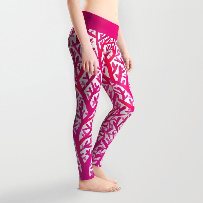 Fan Coral – Pink Ombré Leggings
