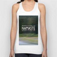 namaste Tank Tops featuring Namaste by Angela Fanton