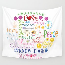 Inspirational Words Wall Tapestry
