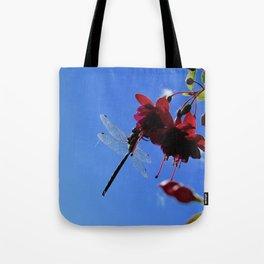 Dragonfly on Fuchsia Tote Bag
