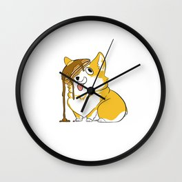 Pancake Corgi Wall Clock
