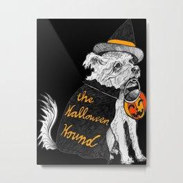 The Halloween Hound- Orange Metal Print