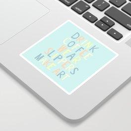 Wear Slippers - Art for Artists Sticker
