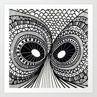 the who Art Prints featuring Who by Linda Lees