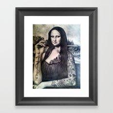 Tatted Lisa Framed Art Print