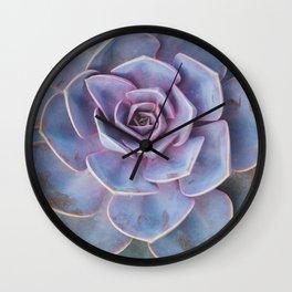 Vivid Succulents Wall Clock