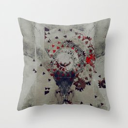 the violent misery of everything lost Throw Pillow