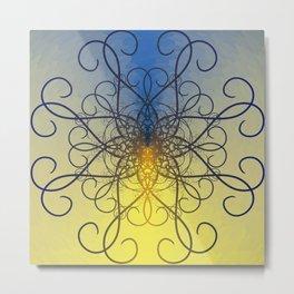 Symmetry 8: Jellyfish Metal Print