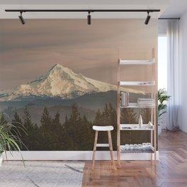 Mount Hood Vintage Sunset - Nature Landscape Photography Wall Mural