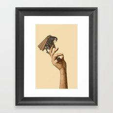 Are you afraid of God? Framed Art Print