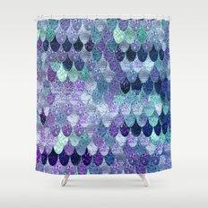 SUMMER MERMAID  Purple & Mint by Monika Strigel Shower Curtain