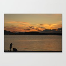 Sunset in love Canvas Print