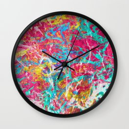 Abstract Painting with Texture Wall Clock
