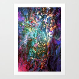 It starts out with a single star Art Print