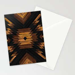 Urban Tribal Pattern 7 - Aztec - Wood Stationery Cards