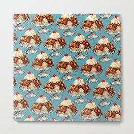 Ice Cream Sundae Pattern Metal Print