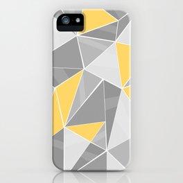 Pattern, grey - yellow iPhone Case
