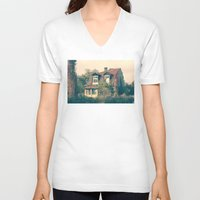 house V-neck T-shirts featuring HOUSE by Logram