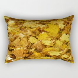 Season Autumn Golden Leaves Rectangular Pillow