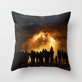 Easter full moon - the winter is over Throw Pillow