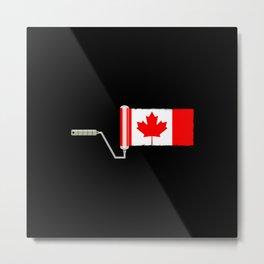 Paint Roller Canada Metal Print