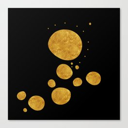 """Golden dots & black background"" Canvas Print"