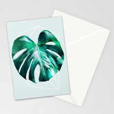 Monstera 2 Geometry Stationery Cards