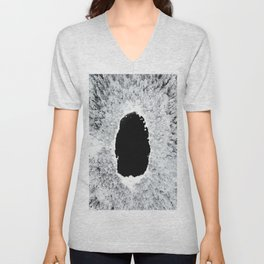 Black Hole - A Winter Lake In Finland Unisex V-Neck