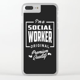 Gift for Social Worker Clear iPhone Case