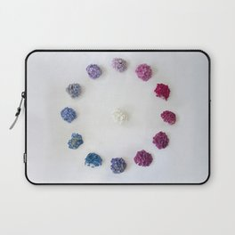 Circle of Hydrangea Laptop Sleeve