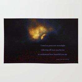 """""""Suspension Moon #120"""" with poem:  No Poem Rug"""