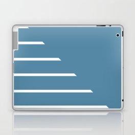 Half Stripes White and Niagara Laptop & iPad Skin