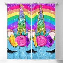 Rainbow Sparkle Unicorn Blackout Curtain