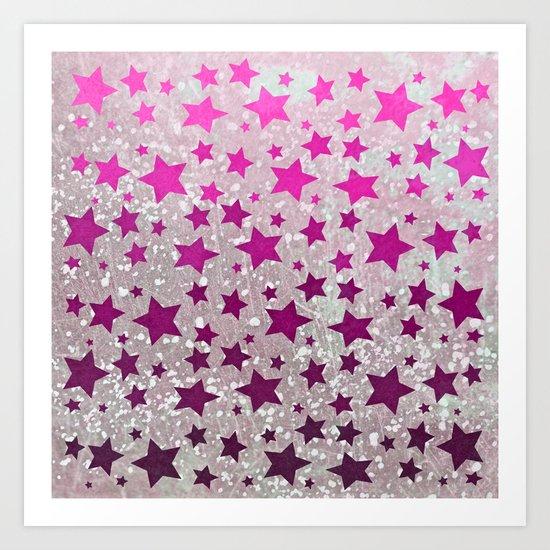 All Stars...Galaxy Pink Art Print