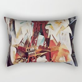 "Robert Delaunay ""Graphic Champs de Mars: The Red Tower"" Rectangular Pillow"