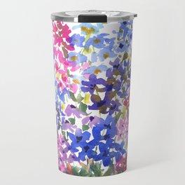 Blue Delphinium Garden Travel Mug