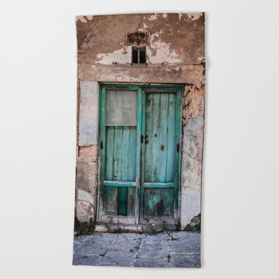 Green Door II Beach Towel