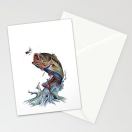 Bass Fish Stationery Cards