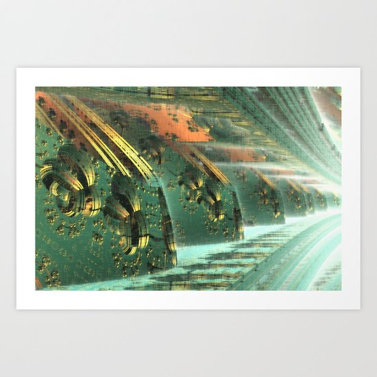 Cannon Battery (Crosshatch Explosion) Art Print
