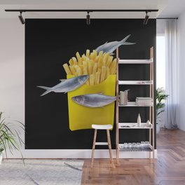 fish and chips Wall Mural