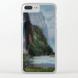 Tall Waterfall Clear iPhone Case