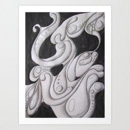 Fluidity of Motion Art Print