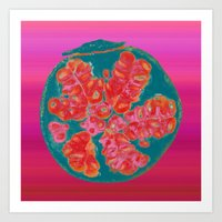 pomegranate Art Prints featuring Pomegranate by bravo la fourmi