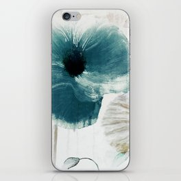 Teal Poppies iPhone Skin