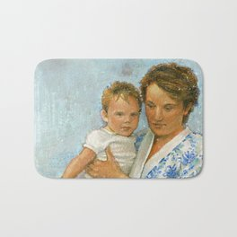 mother and child 2 Bath Mat