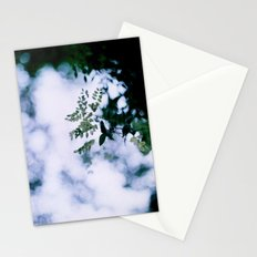 Green Bokeh Stationery Cards
